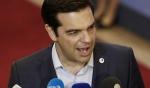 7月13日,在比利时首都布鲁塞尔,希腊总理齐普拉斯在欧元区领导人峰会结束后接受记者采访。 - BRTN新闻