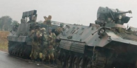 津巴布韦首都哈拉雷的士兵。 - News.Cntv.Cn